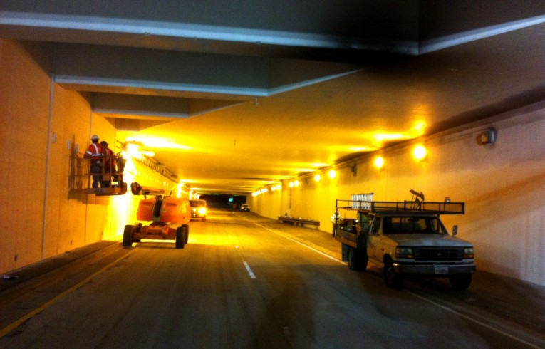 Image of 5 Freeway Tanker Fire repairs by HLE